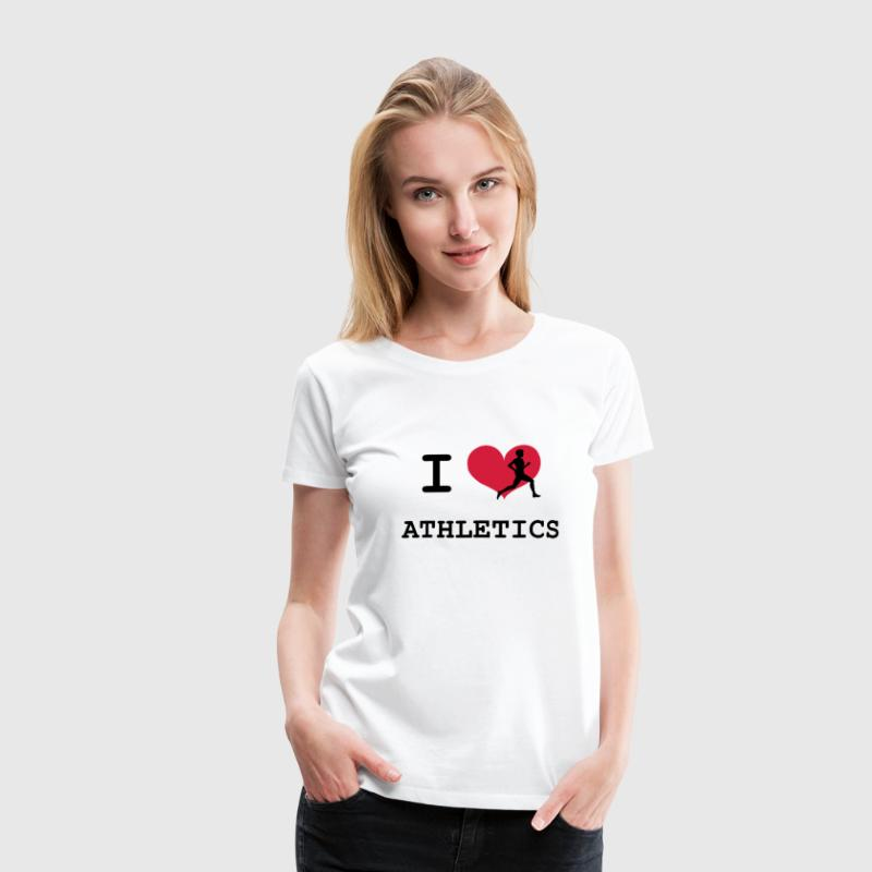 I Love Athletics  - Women's Premium T-Shirt