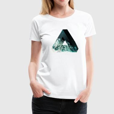 Penrose Triangle Design - Women's Premium T-Shirt