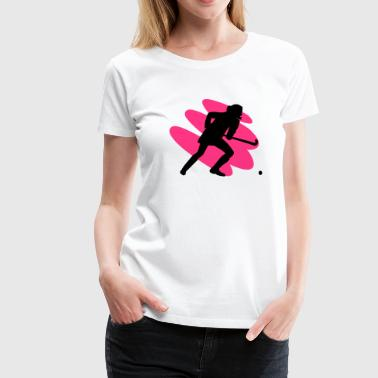 Field Hockey Girl - Women's Premium T-Shirt
