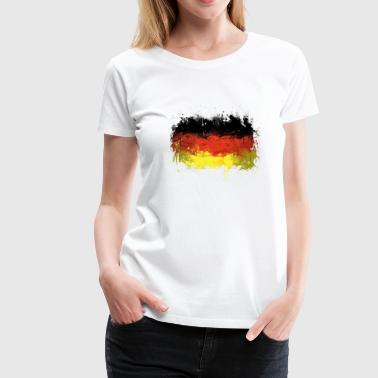 German Flag Graffiti - Women's Premium T-Shirt