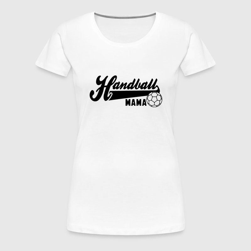 Handball MAMA BLACK - Frauen Premium T-Shirt