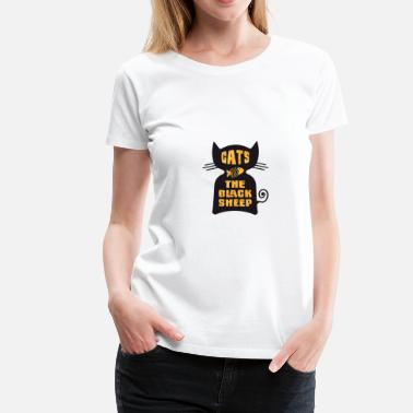 Vara Olydig CATS - The Black Sheep - Premium-T-shirt dam