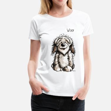 Caricature Funny Havanese - Dog - Dogs - Comic - Women's Premium T-Shirt
