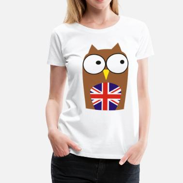 Madchester whoo are you - new! Owl & Union Jack - Women's Premium T-Shirt
