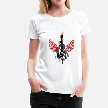 Guitar Wings Guitar guitar wings wings graffiti music music - Women's Premium T-Shirt