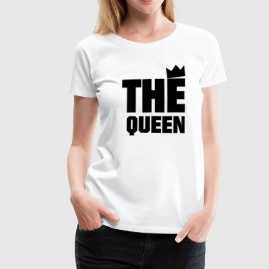 The Queen - Premium-T-shirt dam