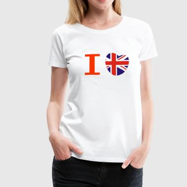 I heart I love Union Jack British flag heart - Women's Premium T-Shirt