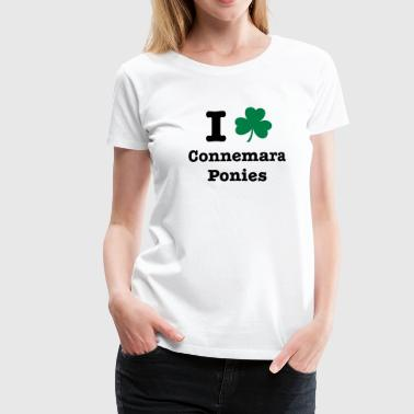 I love Connemara Ponies - you can change all colours - Women's Premium T-Shirt