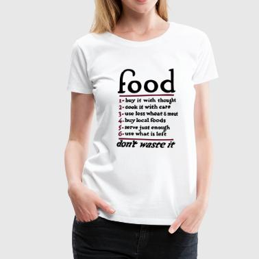 Here For The Food Food - Women's Premium T-Shirt