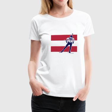 Biathlon - cross country skiing - Austria - T-shirt Premium Femme