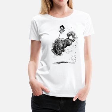 Thellwell Thelwell - Pony springing - Women's Premium T-Shirt