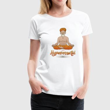 Seat Truly hyperconnected Indian guru in meditation - Women's Premium T-Shirt