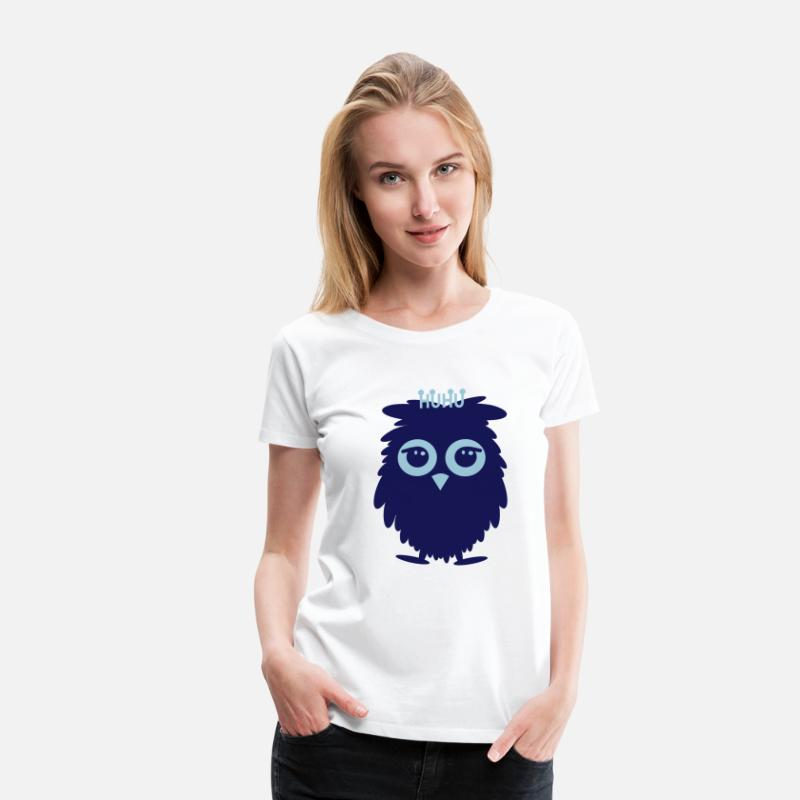Bird T-Shirts - HUHU - Women's Premium T-Shirt white