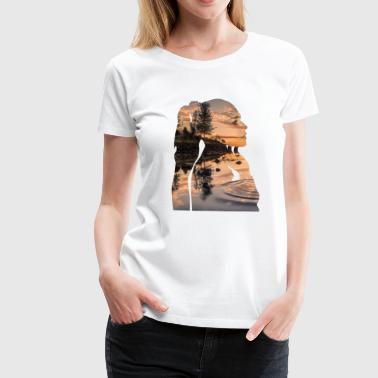 Double Exposure Double Exposure Profile - Women's Premium T-Shirt