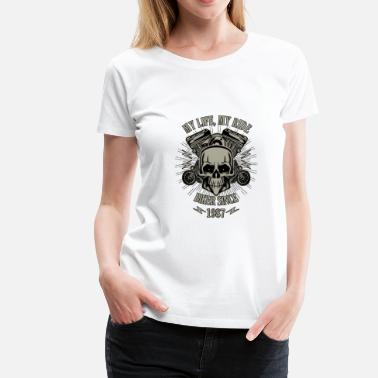 Year 1987 Gift for Biker - Year 1987 - Women's Premium T-Shirt
