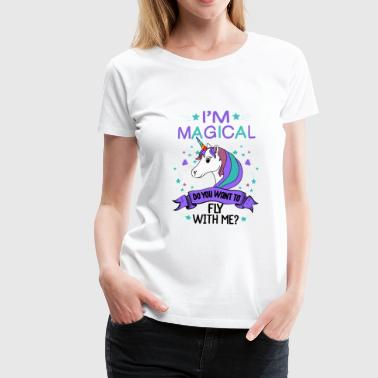 Cute Sayings For Kids Cute unicorn unicorn saying shirt gift - Women's Premium T-Shirt