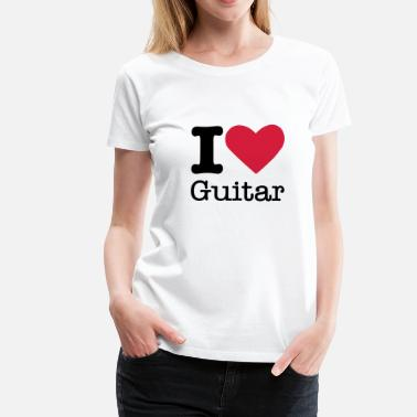 Classic Rock I Love Guitar - Women's Premium T-Shirt