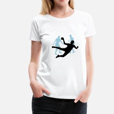 Blacklight Handball women - Vrouwen Premium T-shirt
