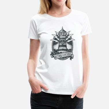 WoW Lighthouse - Women's Premium T-Shirt