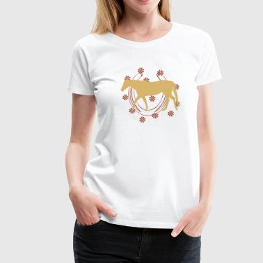 Horse with Horseshoe - Women's Premium T-Shirt