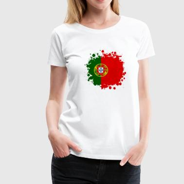 Portugal Klecks - Frauen Premium T-Shirt