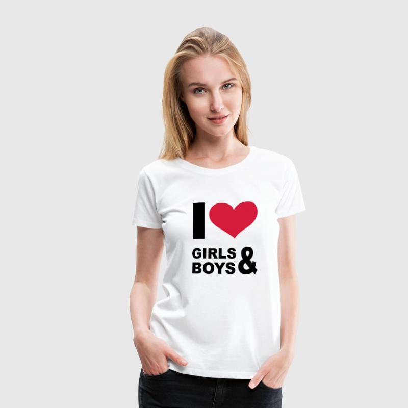I LOVE girls and boys - eushirt.com - SE - Premium-T-shirt dam