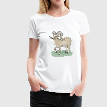 sheep53 - Dame premium T-shirt