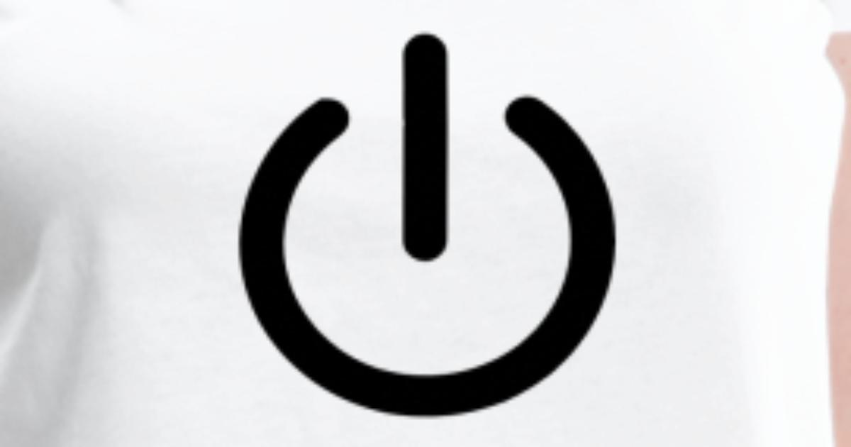 Power On Switch On Turn Off Icon By Mkmdesign Spreadshirt