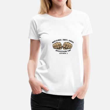 Drug Free Drug free drug abuse gift idea - Women's Premium T-Shirt