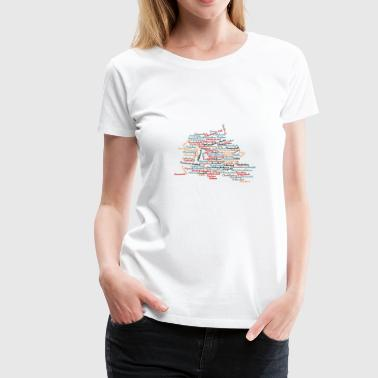 Limited Berlin Land Map Cities Places - Women's Premium T-Shirt
