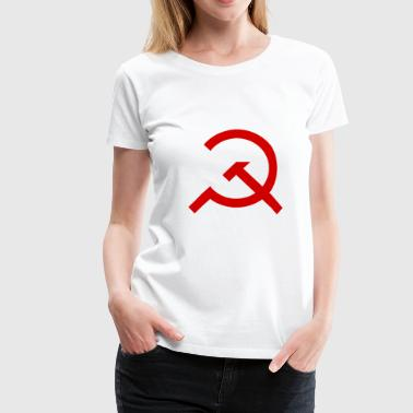 Marteau simple et Sickle - T-shirt Premium Femme