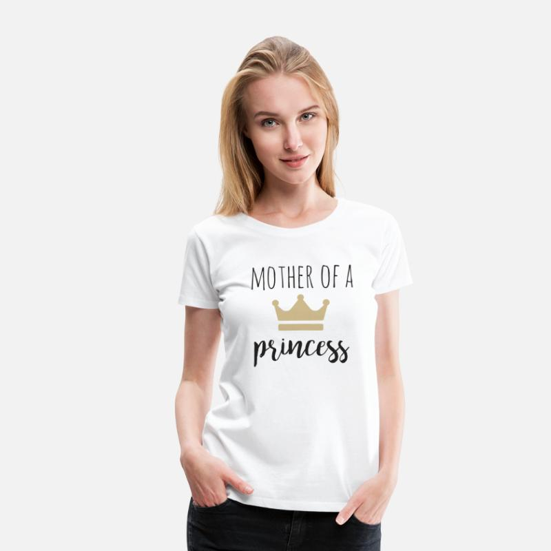 Daughter T-Shirts - Mother of a Princess partner look - Women's Premium T-Shirt white