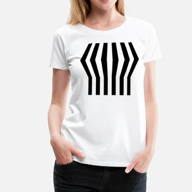 Optique Grid T-shirt (push-up illusion) - T-shirt Premium Femme