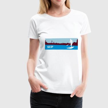 SUP Stand up paddling - Frauen Premium T-Shirt