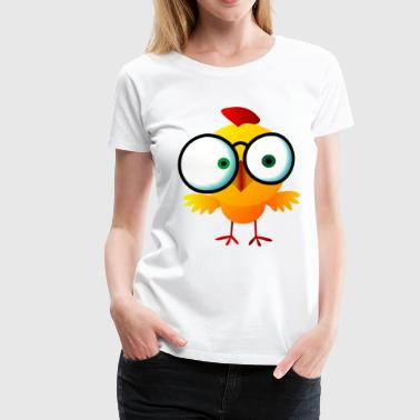 Crazy Chick mit Brille - Frauen Premium T-Shirt