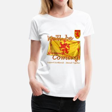 Lion Rampant Designs Scottish Lion Rampant Football - Women's Premium T-Shirt