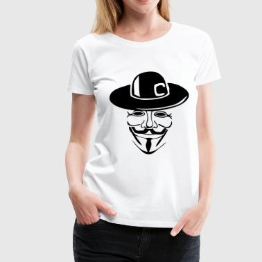 anonymous masque mask chapeau1 - T-shirt Premium Femme