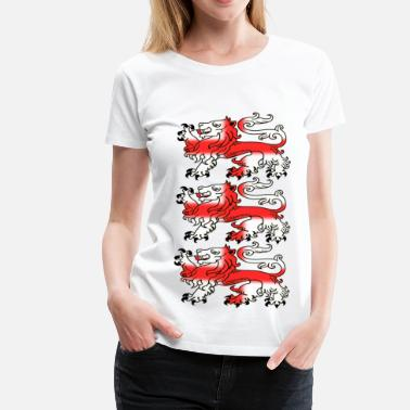 George Three English Lion Passants with St George's Cross - Women's Premium T-Shirt