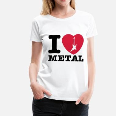 I love Metal !!! hearth guitar 2 - Maglietta Premium da donna