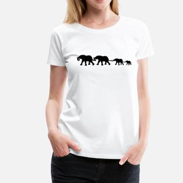Elefanten medium_elephant_family T-Shirts - Frauen Premium T-Shirt