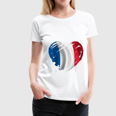 France heart - Women's Premium T-Shirt