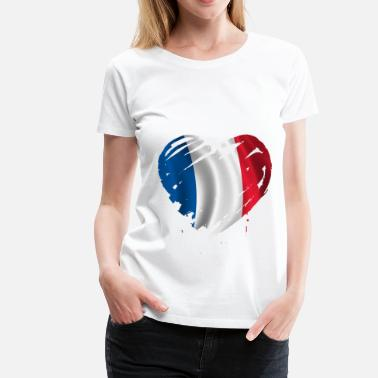 France French France heart - Women's Premium T-Shirt