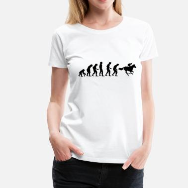 Horse Racing horse racing evolution - Women's Premium T-Shirt