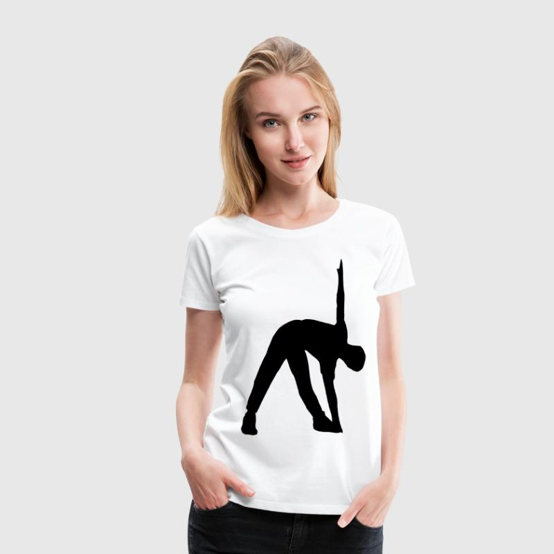 fitness workout sport stretching - T-shirt Premium Femme