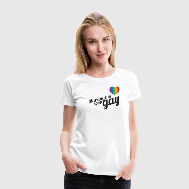 Marriage is so gay-Zwart - Vrouwen Premium T-shirt