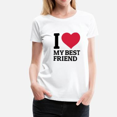 Freundschaft I love my best friend - Frauen Premium T-Shirt