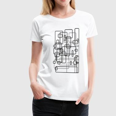 Rectangle Abstract / rectangle / square / Design / Art 2c - Women's Premium T-Shirt