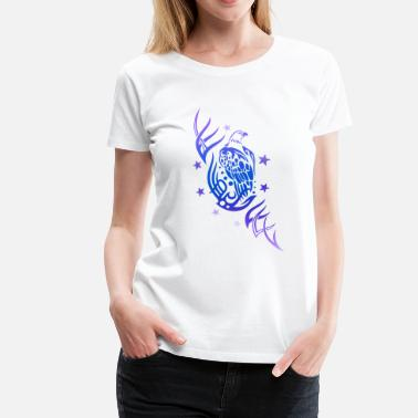 Bird Tribal Tattoo Eagle with tribal tattoo and stars - Women's Premium T-Shirt