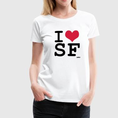 i love SF by wam - T-shirt Premium Femme