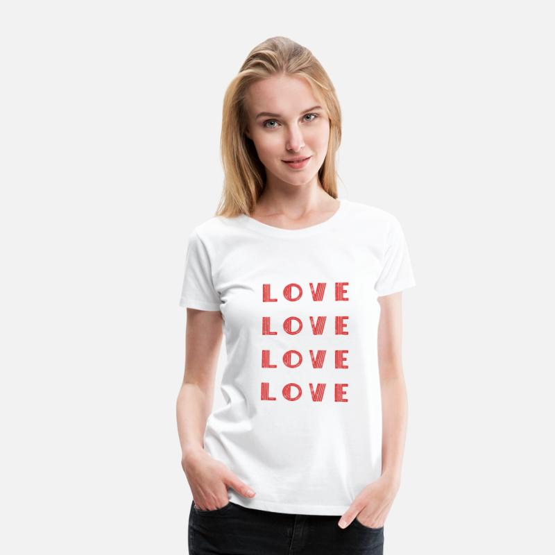 Emancipation T-Shirts - Love Love Love Love Shirt Gift Idea - Women's Premium T-Shirt white